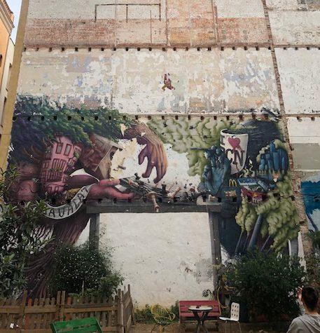 אומנות רחוב וגרפיטי בברצלונה