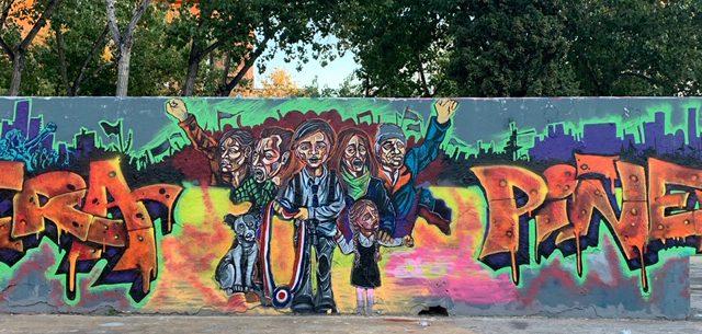 פארק 3 הארובות גרפיטי ואומנות רחוב בברצלונה